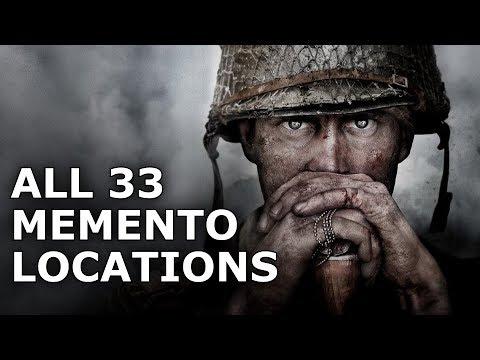 Call of Duty WW2 - All Memento Locations (COD WW2 Mementos Guide)
