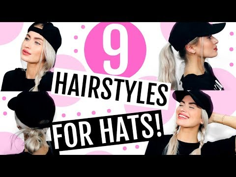 9 HAIRSTYLES FOR HATS! | LYSSRYANN