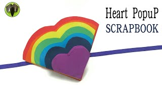 Rainbow Heart Maze Popup Card - DIY Tutorial | Scrapbook - 849