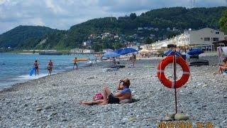 Лоо пляж набережная 2016(Пляжная полоса набережной в Лоо, эллинги у моря номера с балконами, заказать номер в Лоо с балконом прямо..., 2016-07-14T08:55:36.000Z)