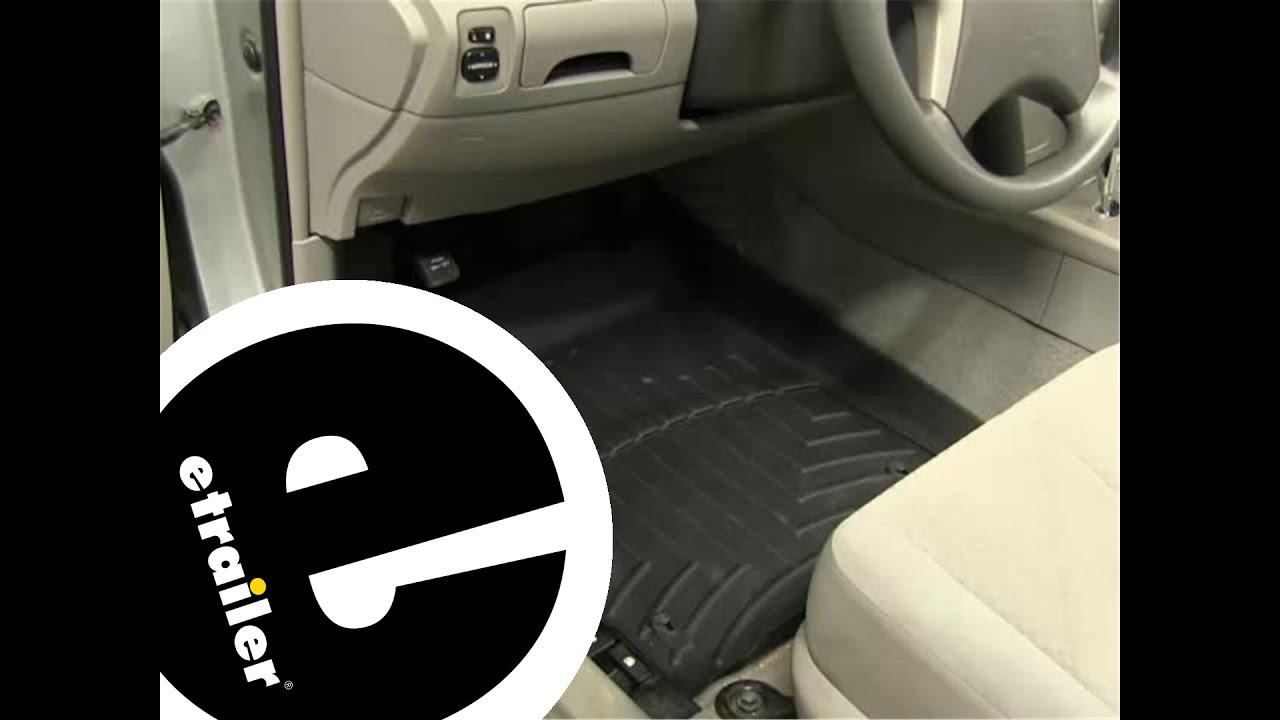 Weathertech floor mats toyota corolla - Review Of A Weathertech Floor Liner On A 2009 Toyota Camry Etrailer Com