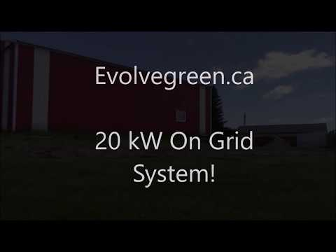 20 kW on grid Solar system Installation in Manitoba!