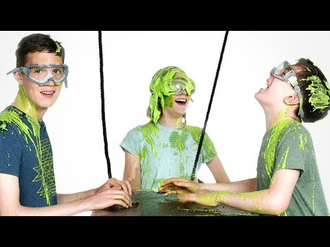 Talbott and Vanessa Get Slimed!! | Partners in Slime | HiHo Kids