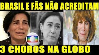 3 Choros na Globo! Atrizes GLOBAIS Glória Pires, Lilian Cabral e Renata Sorrah em 3 Tristes Notícias