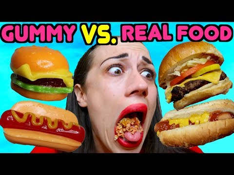 GUMMY FOOD VS. REAL FOOD!