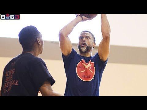 Mahmoud Abdul-Rauf Interview in Training / Abdul-Rauf Practice / Chris Jackson / BIG3 Basketball