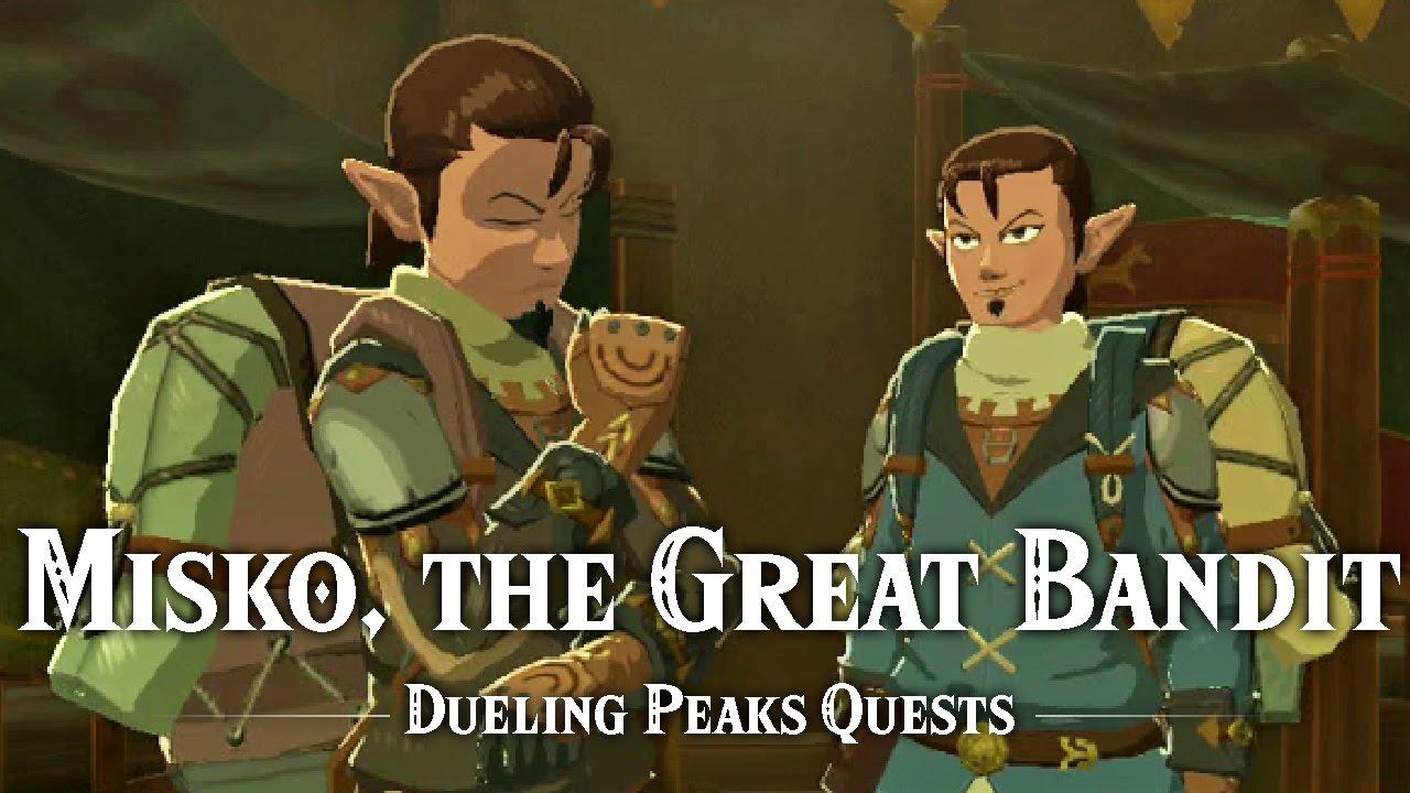 Misko The Great Bandit Zelda >> Misko The Great Bandit Dueling Peaks Stable Side Quest Youtube