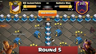 Clan War Leagues Season 3 - Round 5 - Clash of Clans New TH2 War Strategy