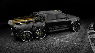 6 wheel mercedes truck : Mercedes X Class 6x6 Custom is Pickup of Your Nightmares