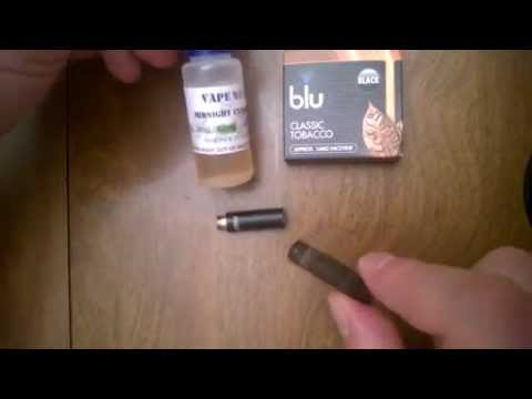 How to refill a Blu Classic e-cig cartridge