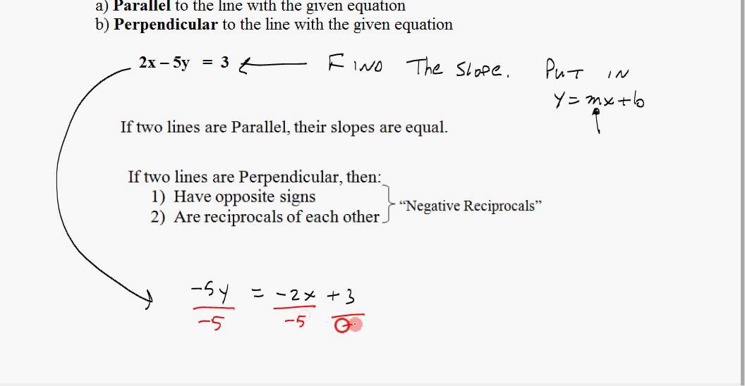 Find slopes of parallel and perpendicular lines youtube find slopes of parallel and perpendicular lines ccuart Images