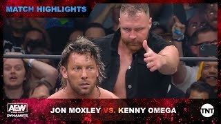 vuclip Jon Moxley puts the hurt on Kenny Omega Backstage at AEW Dynamite