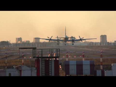 RA-75478 IL-18 RUAF landing