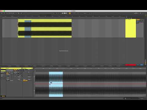 How to pitch bend audio in Ableton