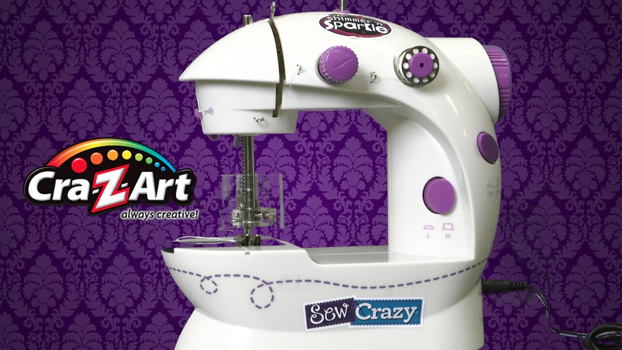 Shimmer N Sparkle Sew Crazy Sewing Machine From Cra Z Art Youtube