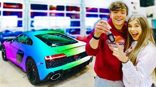 MY GIRLFRIEND REACTS TO MY DREAM CAR!! (Cute Reaction)