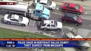 Mesquite Police chase theft suspect through Dallas County
