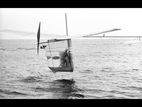 Image result for photo of gossamer albatross pedal-powered aircraft which crossed the chanel