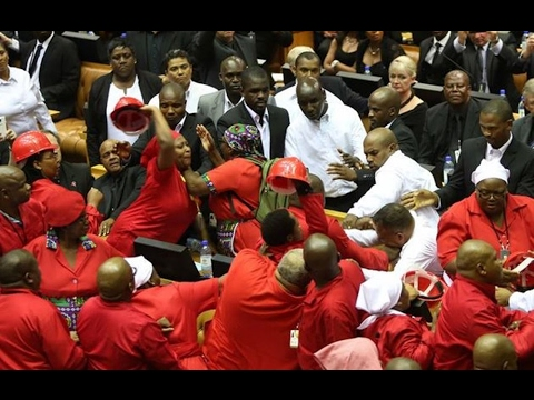 EFF FIGHT WITH MILITARY AT PARLIAMENT SONA 2017 aka WWE ROYAL RUMBLE
