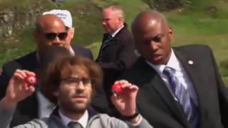 Donald Trump's fury at Brit prankster hijacking his speech with Nazi golf balls in Scotland