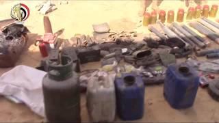 تصفية 11 تكفيريا وتدمير 29 عبوة ناسفة فى حملة للجيش بشمال سيناء.. فيديو