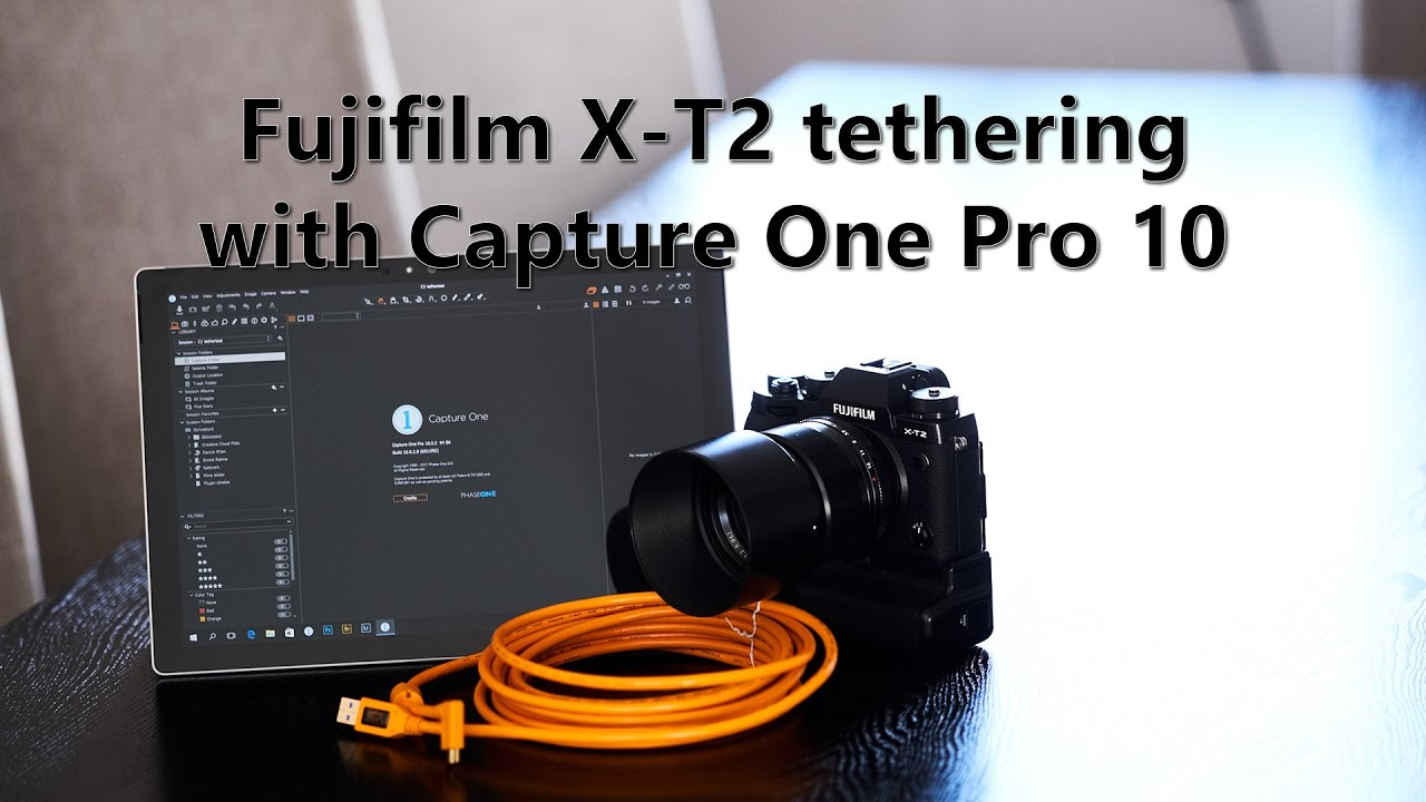 Fujifilm X-T2 tethering with Capture One Pro 10