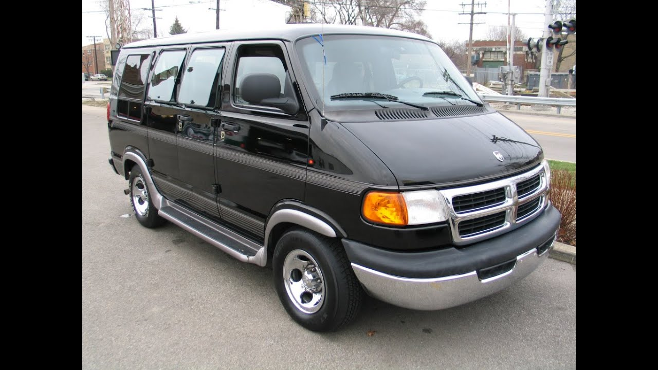 1999 Dodge Ram Conversion Van Black