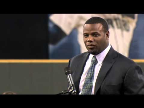 0e0d464157 Ken Griffey Jr Seattle Mariners Hall Of Fame Induction/Speech - YouTube