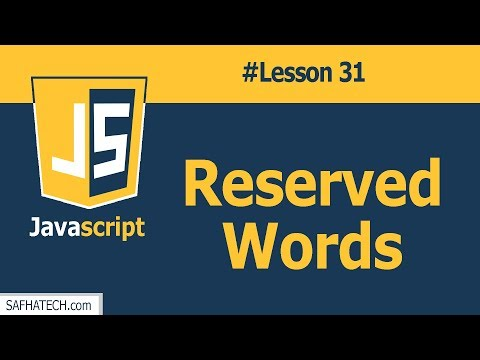 What are the Reserved Word in Javascript? | Lesson 31 Javascrip Tutorial | SAFHATECH.com thumbnail