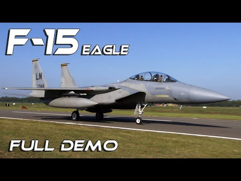 F15 The McDonnell Douglas F-15 Strike Eagle Full Spectacular US Demo HD