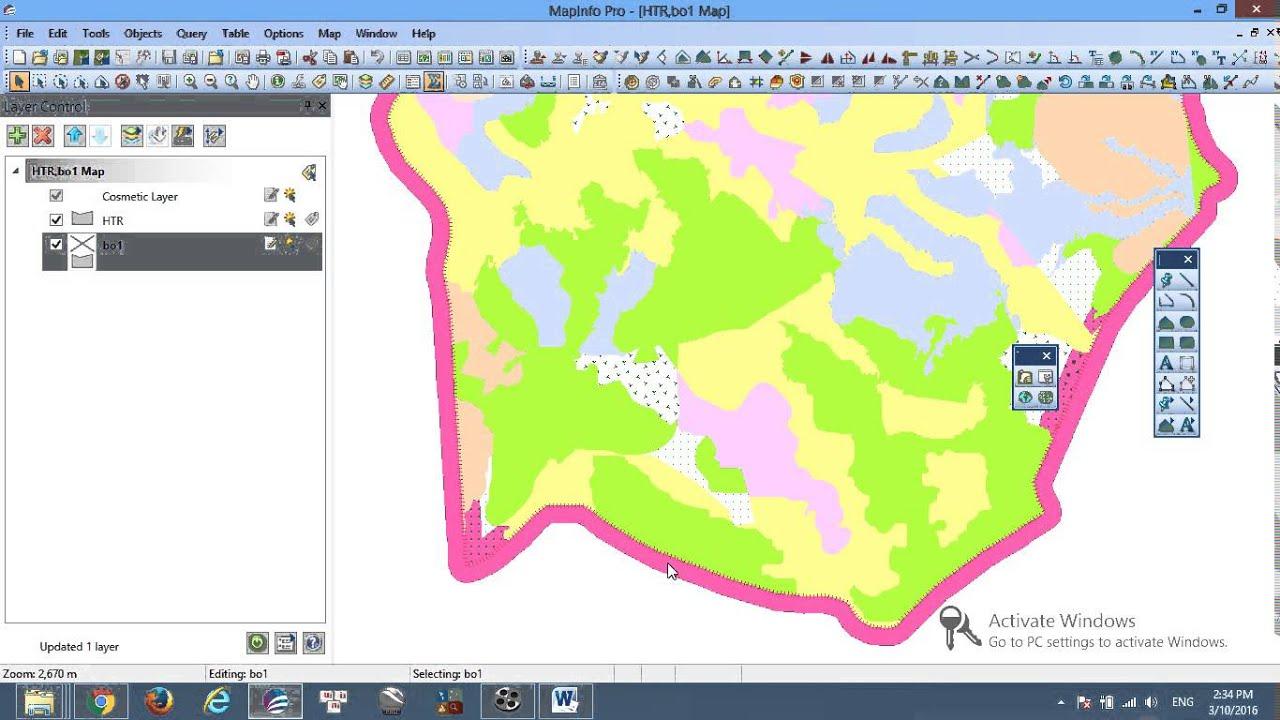 Vẽ trang trí đường bao bản đồ nhanh gọn hiệu quả   Hướng dẫn phần mềm Mapinfo   Mapinfo Cơ Bản