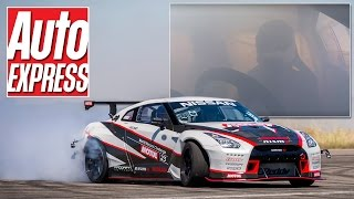 What's this 1,390bhp Nissan GT-R drift car like to drive? Smokey!