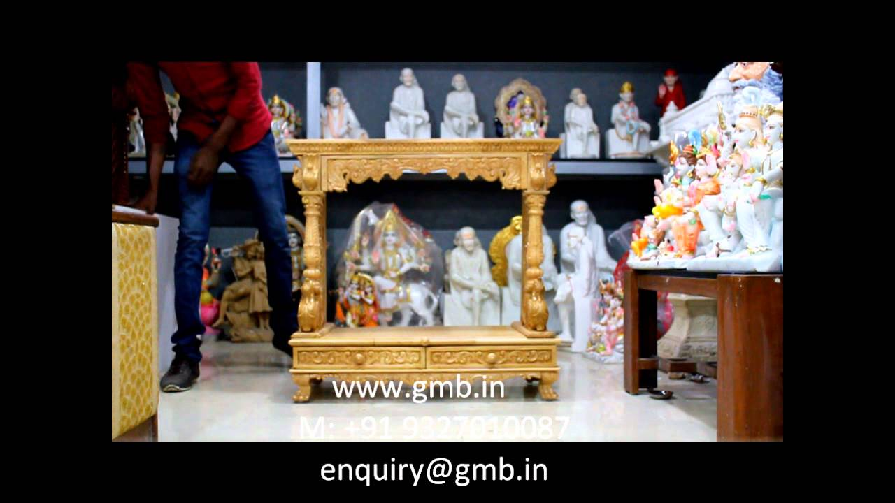 Folding Wooden Temple, Wooden Mandir, Wooden Mandapam For Home   YouTube