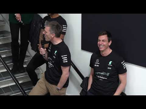 F1 2017 - Lewis Hamilton & Mercedes celebrate titles at Brixworth and Brackley