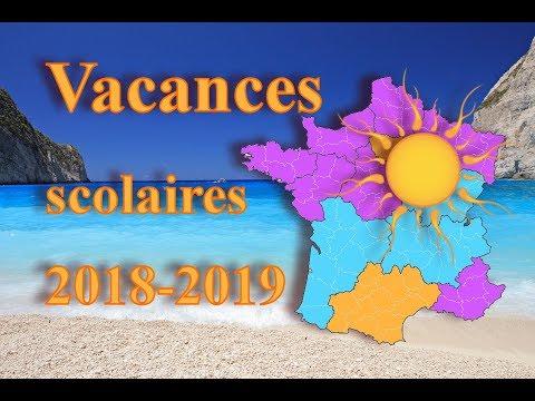 CALENDRIER DES VACANCES SCOLAIRES 2018 - 2019 FR