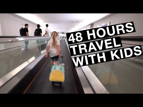 48 hours of travel with kids | Flying with kids
