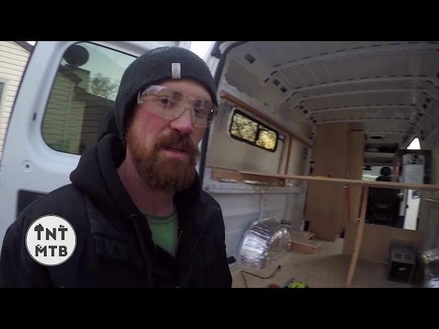 New Van Build video #2  CUTTING HOLES IN THE VAN!!!