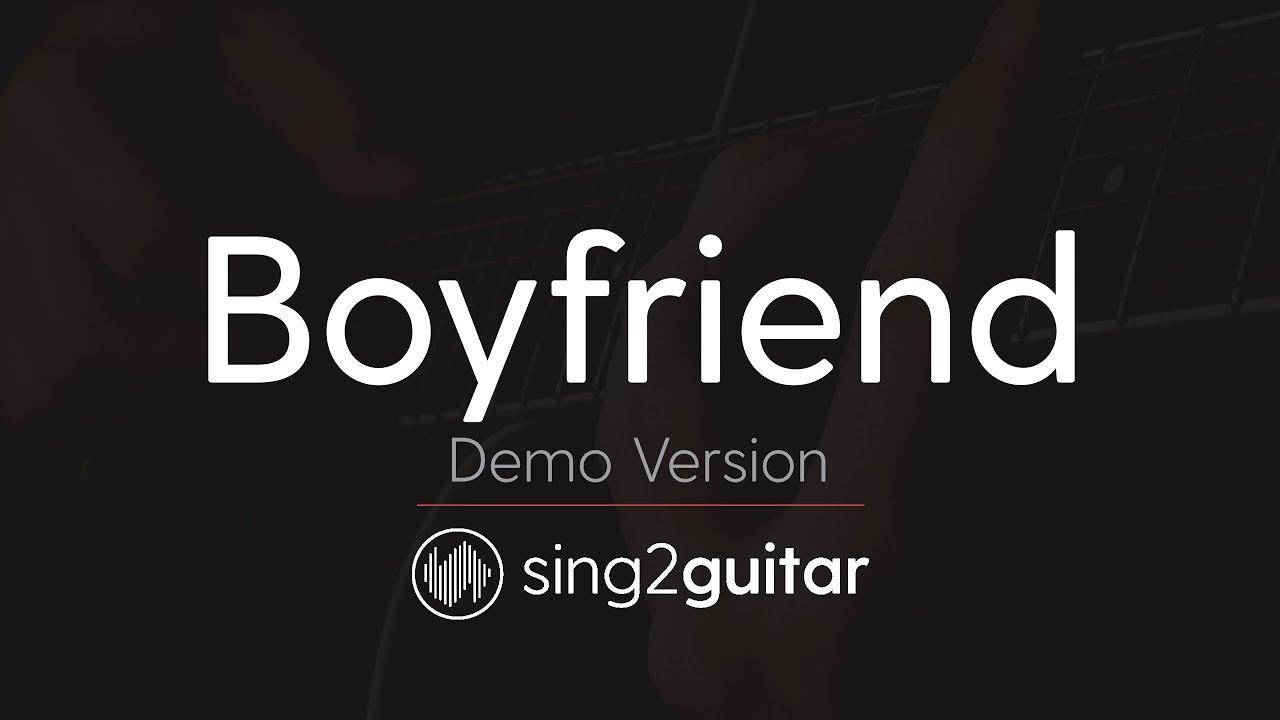 Boyfriend Acoustic Karaoke Backing Track Justin Bieber Youtube