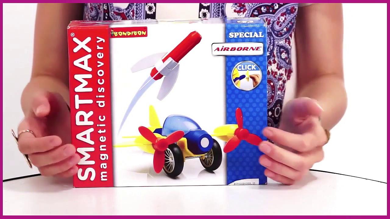 Магнитный конструктор SmartMax «Забавные цветы», Bondibon - YouTube