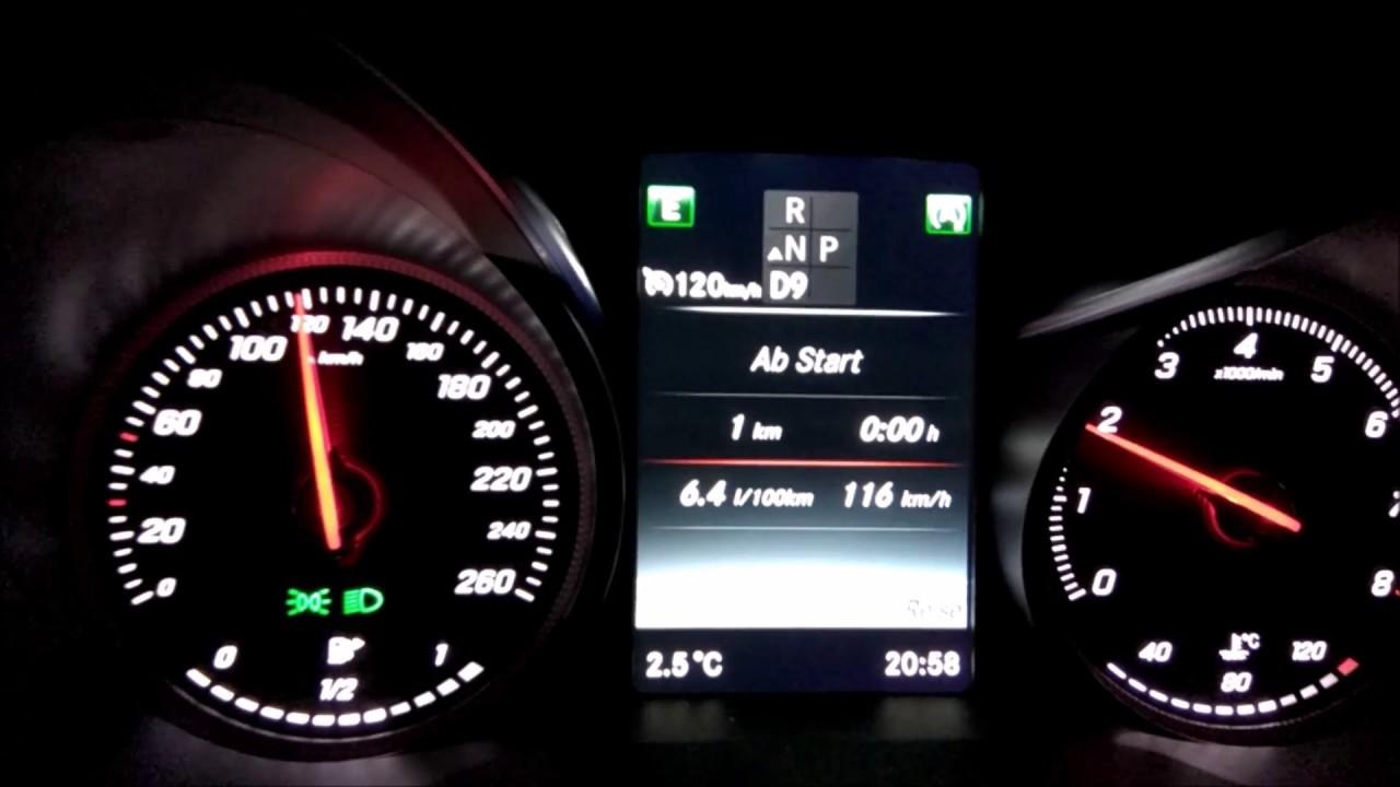 2017 // mercedes c 300 coupé (245hp) - fuel consumption/ verbrauch