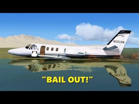 Emergency WATER LANDING in Flight Simulator X! (Multiplayer)