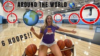 AROUND THE WORLD BASKETBALL CHALLENGE!!  *6 HOOPS*