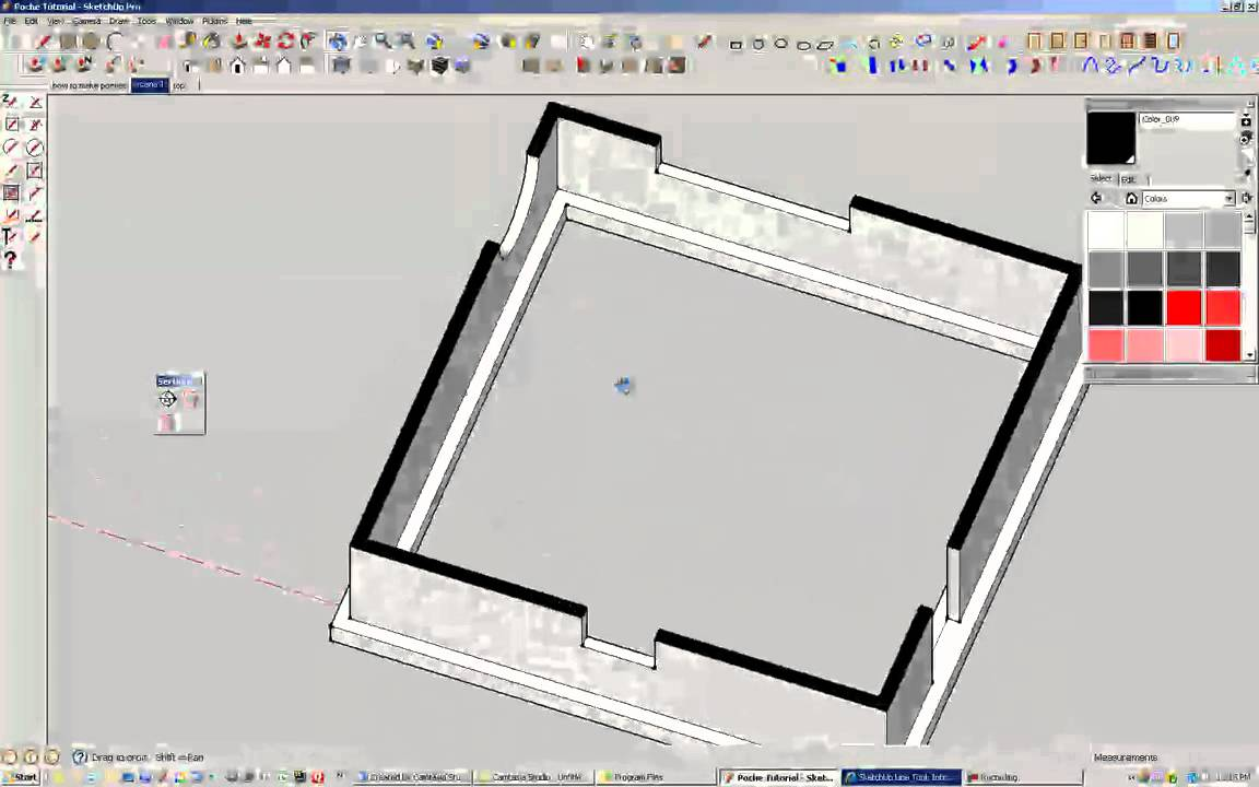 How to Poche in Sketchup (fill inbetween walls) - YouTube