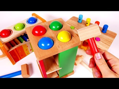 Thumbnail: Pounding Table Playset Toys for Children Learn Colors for Kids