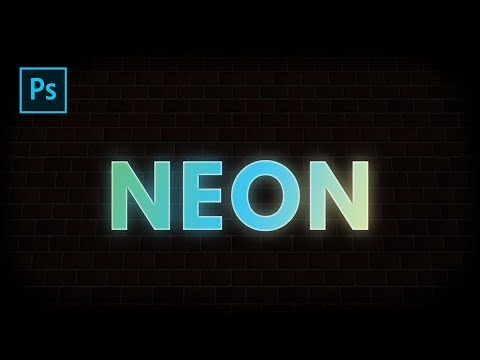 Simple Neon Text Effect in Photoshop CC | Photoshop Tutorial thumbnail