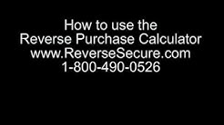 Reverse Mortgage Purchase Calculator
