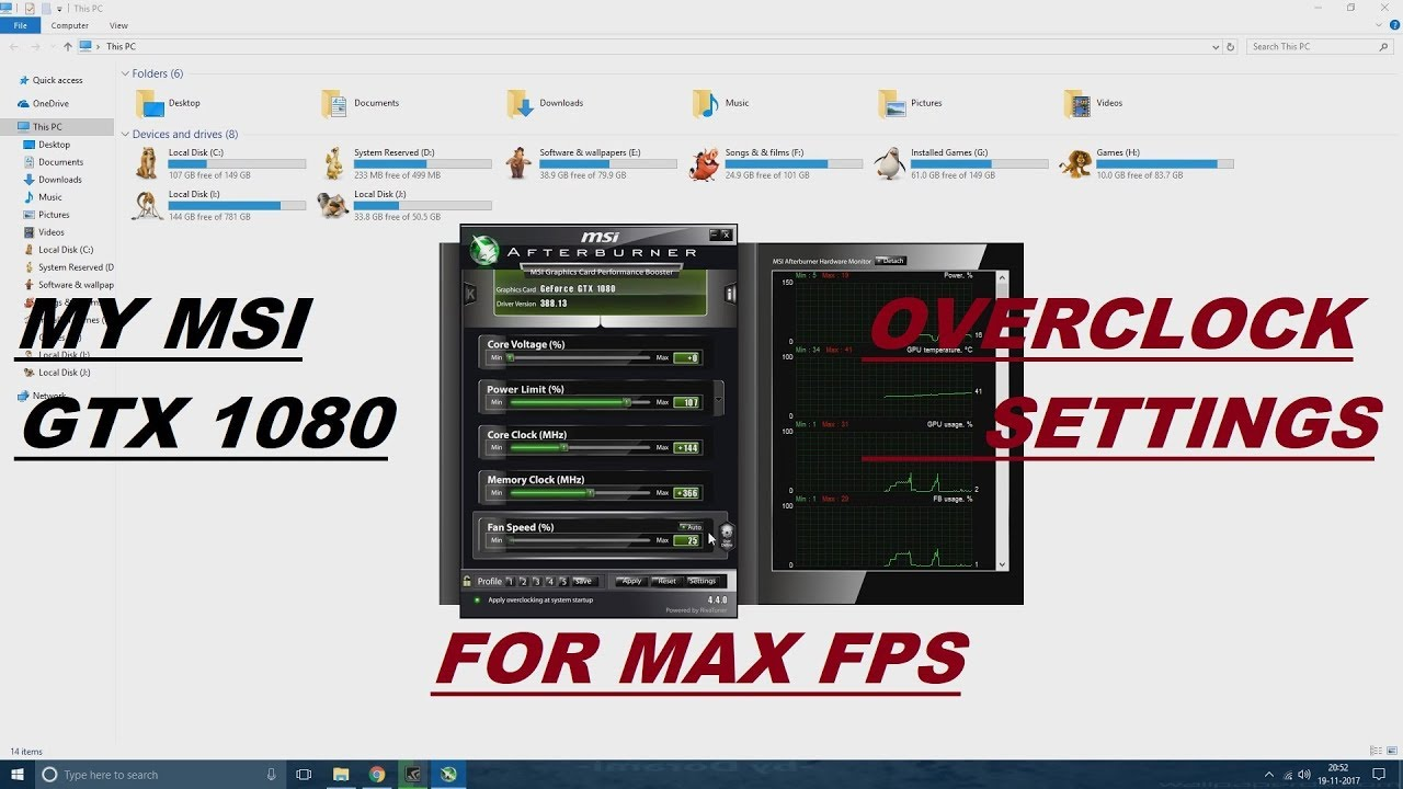 MY MSI GTX 1080 OVER CLOCK SETTINGS STABLE FOR HIGH FPS