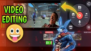 How To Edit Free fire Video In KineMaster |KineMaster Slow Motion HeadShot Editing |Memes Editing