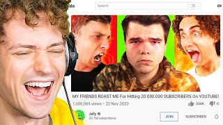 Crainer REACTS TO JELLY'S 20,000,000 SUBSCRIBERS ROAST VIDEO!