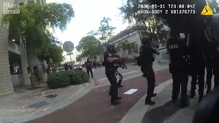 Body cam video shows cops shooting rubber bullets, laughing at protesters